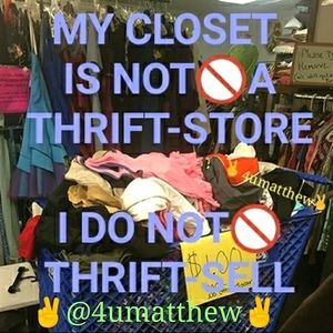 🙅I DO NOT SELL THRIFT STORE ITEMS IN MY CLOSETS🙅